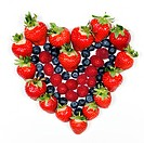 Delicious berries. Strawberries, blueberries and raspberries.