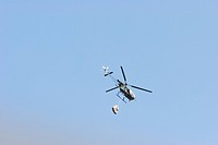 Helicopter Hovering Above Chinari, Azad Kashmir, Pakistan