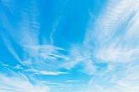 light clouds in blue sky in october in Crimea