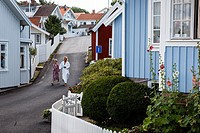 Street scene in Fjallbacka, bohuslan region, west coast, Sweden.