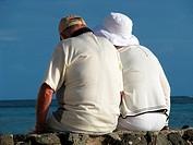 Senior Couple Beach Vacation