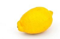 one lemon isolated on white