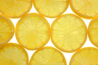 Tiled lemons background