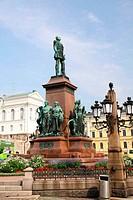Statue Alexander II in Helsinki Finland