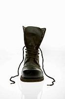 Combat boot.