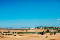 Typical cyprian panoramic view of desert landscape