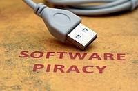 Web piracy concept