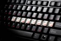 keyboard business key macro close up