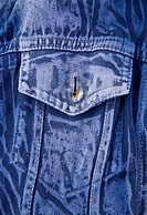 pocket dark blue denim jacket