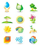Set of nature design elements
