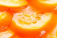 orange cake with gelatin toping