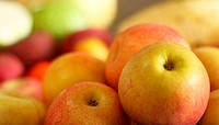 Fresh fruits in rattan basket