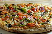 Pizza Capsicum Tomato and Mushroom
