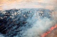 burning land