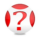 Red ball with a question mark