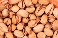 Close up of fresh pistachios.