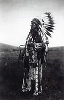High Hawk, from 'The North American Indian', 1907 (photogravure) (b&w photo), Curtis, Edward Sheriff (1868-1952) / Private Collection / Bridgeman Imag...