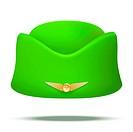 Classic Stewardess hat forage-cap of air hostess uniform.