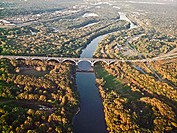 Highway 55 bridge over the Minnesots River near Minneapolis and St. Paul.