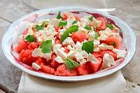 Salad of watermelon