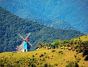 Alpine Scenery with a Windmill