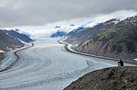 The center arm of the Salmon Glacier situated in northern British Columbia near the town of Stewart.