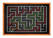 Labyrinth on chalkboard