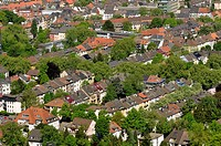 Aerial view, cityscape, Dortmund, Ruhr district, North Rhine-Westphalia, Germany