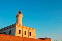 The lighthouse at sunset at Anzio