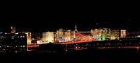 Night view of the new boulevard. Ashkhabad. Turkmenistan.
