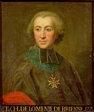 Cardinal Etienne-Charles de Lomenie de Brienne (1727-94) (oil on canvas), French School, (18th century) / Château de Versailles, France / Bridgeman Im...