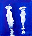 Rain Walkers painting by Kay Gale
