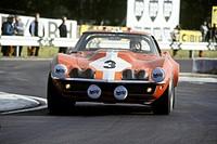 Umberto Maglioli-Henri Greder's Corvette Stingray racing at Le Mans, France June 1968.