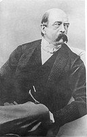Bismarck in 1866 as Minister-President of Prussia, 1866 (b/w photo), German School, (19th century) / Private Collection / Bridgeman Images
