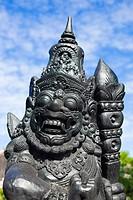 The old stone statue. Indonesia, Bali. .