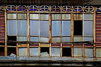 Old broken windows