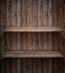Wood shelf, grunge industrial interior