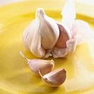 Garlic Cloves and Bulb