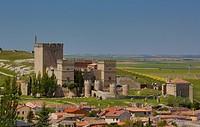 Spain, Castilla y Leon, Palencia Province, View of city in Ampudia.
