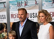 "Celebrities attend the World Premiere of Disney's ""McFarland, USA"" at El Capitan Theatre Featuring: Cayden Wyatt Costner, Kevin Costner, Christine Bau..."