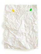 crumpled page