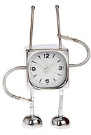 Metal alarm-clock on a white background