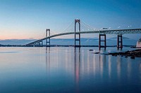 Newport Bridge at Twilight