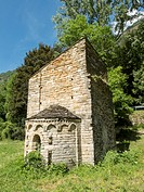 Sant Marti de Bavamoll chapel in the Pyrenees, Spain.