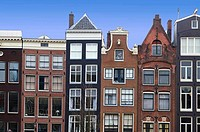 Canal houses in Amsterdam, The Netherlands