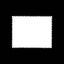 white stamp form background