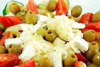 greek salad close detail
