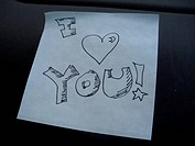 A note says \\\I heart you\\\