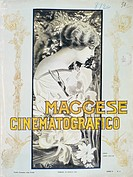 Cover of Maggese Cinematografico, film magazine, 2nd year, Issue 8, April 25, 1914, Turin. Italy, 20th century.