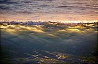 Beaking ocean waves